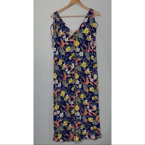 Zara Tropical Floral Maxi Dress